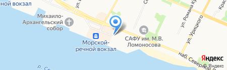 Маячок на карте Архангельска