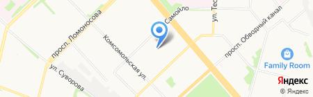 Аполлон на карте Архангельска
