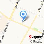 Лазурный берег на карте Архангельска