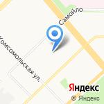 Поликлиника авиаторов на карте Архангельска