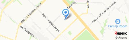 Карамелька на карте Архангельска