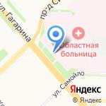 Акушерское отделение на карте Архангельска