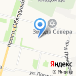 Юниор на карте Архангельска
