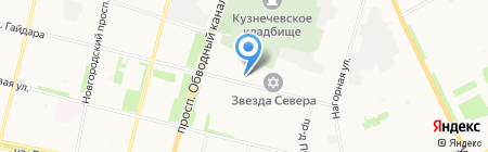 Отдел охотничьего надзора Приморского района на карте Архангельска