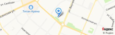 Камуфляж-ка на карте Архангельска
