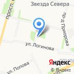Привокзальная библиотека №4 на карте Архангельска