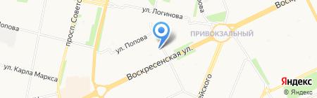 Есения на карте Архангельска