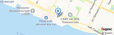 Армянское кафе на карте Архангельска