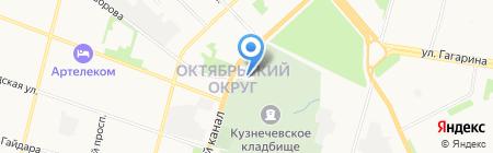 Храм Всех Святых на карте Архангельска