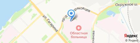 Часовня во имя преподобного Антония Сийского на карте Архангельска