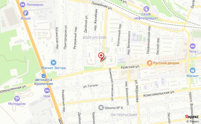 """Карта расположения пункта доставки Магазин  """"Компьютер-Сервис"""" в городе Кропоткин"""