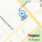 Зеленый огонек на карте Архангельска