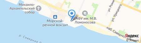 Славный портняжка на карте Архангельска
