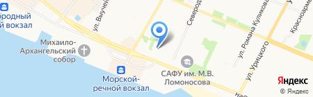 Студенческое кафе на карте Архангельска