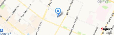 Начальная школа-детский сад №77 на карте Архангельска