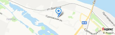 Детский сад №110 на карте Архангельска