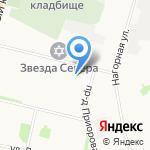 Каскад на карте Архангельска