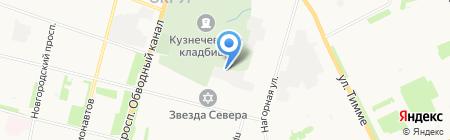 Кроун-Архангельск на карте Архангельска