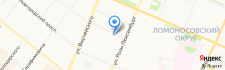 Онега на карте Архангельска