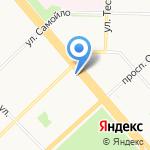Астероид на карте Архангельска