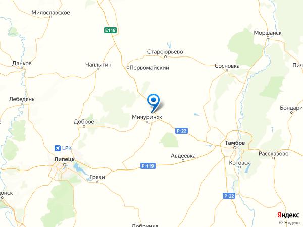 село Турмасово на карте