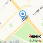 Октябрьский-2 на карте Архангельска