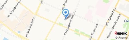 Северная бассейновая профсоюзная организация российского профсоюза работников морского транспорта на карте Архангельска