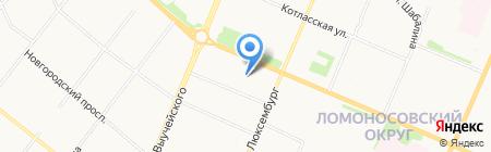 Архсипстрой на карте Архангельска