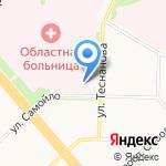 Автохозяйство медицинского и санитарного транспорта на карте Архангельска