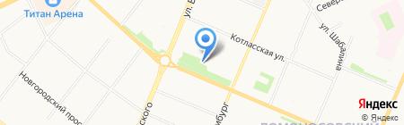Главное бюро медико-социальной экспертизы Архангельской области на карте Архангельска