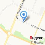 Юность на карте Архангельска