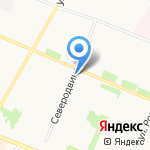 Борок на карте Архангельска