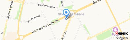 Золотой павлин на карте Архангельска