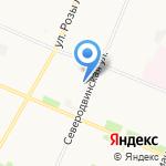 Двина принт на карте Архангельска