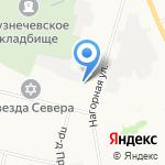 Арго на карте Архангельска