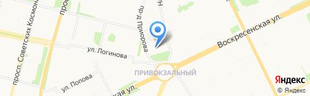 Билет 29 на карте Архангельска