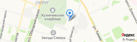 Автокнига на карте Архангельска