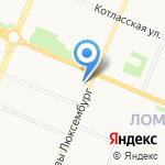 Польщикова на карте Архангельска