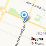Магазин фанеры на карте Архангельска