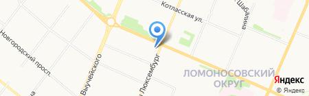 Роза на карте Архангельска