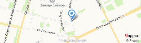 На Нагорной на карте Архангельска