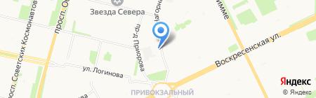 Провиантъ на карте Архангельска