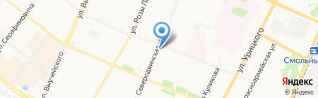 Лист на карте Архангельска
