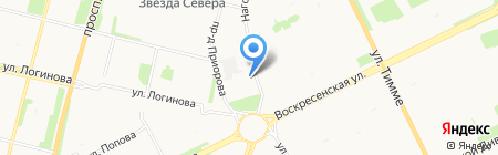 Модус на карте Архангельска