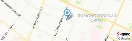Архангельский район водных путей на карте Архангельска