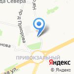 Победа на карте Архангельска