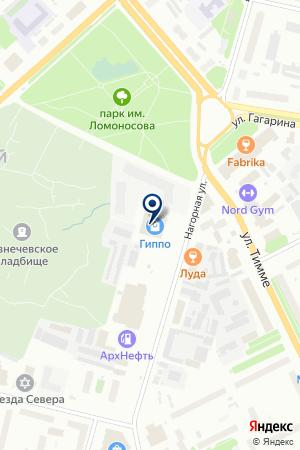 АКБ Авангард на карте Архангельска
