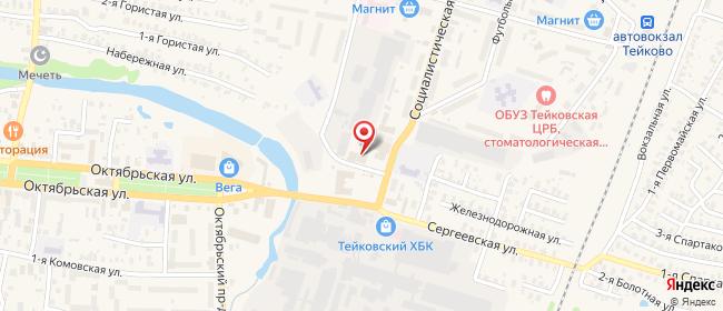 Карта расположения пункта доставки Тейково Шестагинский в городе Тейково