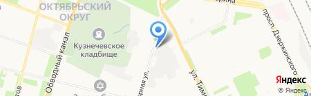 Луда на карте Архангельска