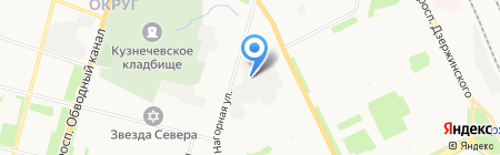 Северянин на карте Архангельска